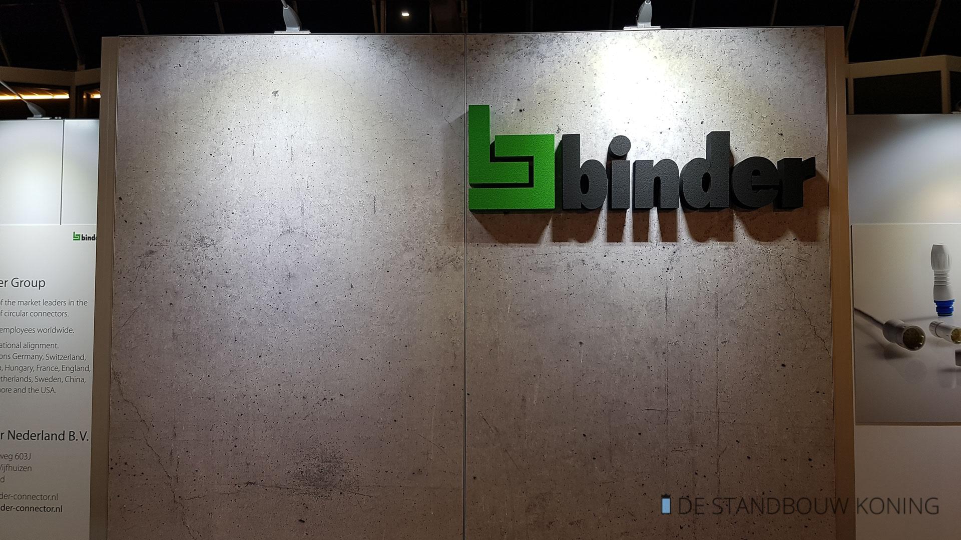 Standbouw 3D-Logo Beurswand