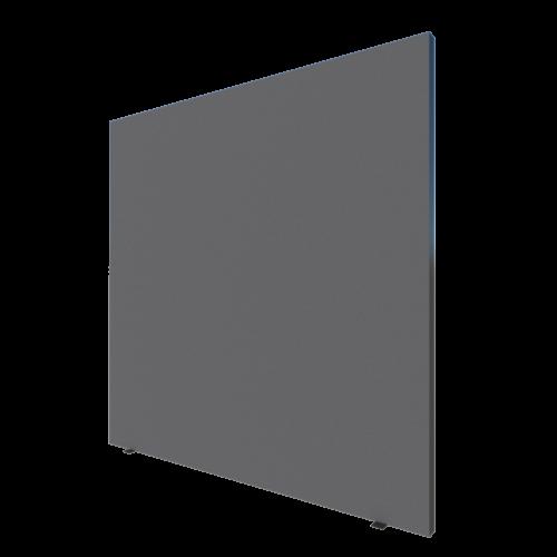 scheidingswand 150x150cm grijs-zwart