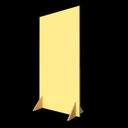 duurzame scheidingswand B75xH150cm sunlightgeel