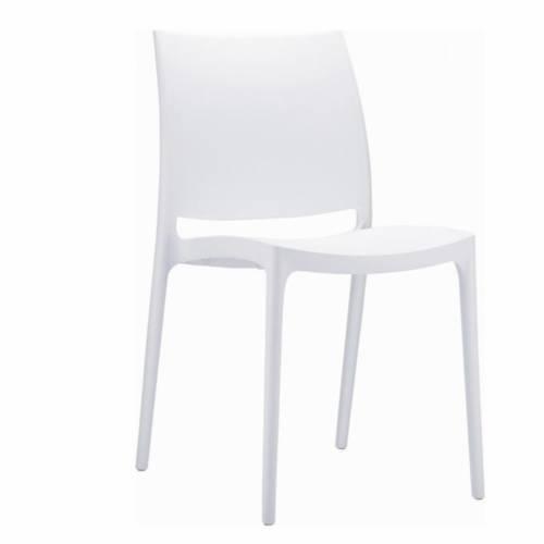 Witte design stoel zonder armleuningen